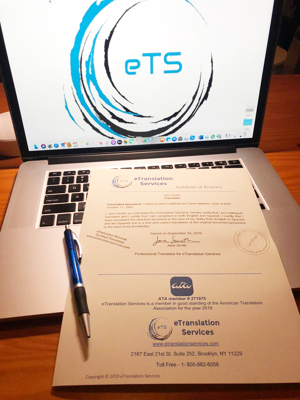 certified translations certificate of accuracy